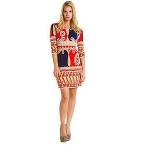 Ali Ro Silk Print Dress